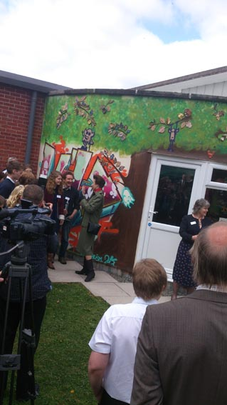 HRH Princess Anne visits teme valley youth project in Wigmore Herefordshire