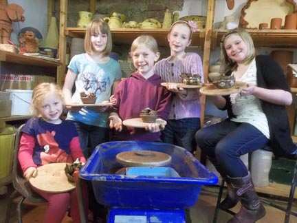 Ruby celebrates her 10th birthday with friends at Eastnor Pottery