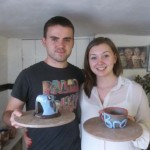These two booked a drop-in pottery session towards the end of the brilliant 2013 Summer season