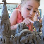 Princess castle made from clay