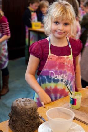 eastnor pottery at daisy's birthday party