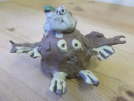 pottery owl made by child