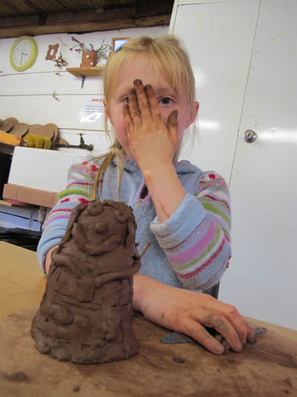 Dr Who provided the inspiration for 1/2 term pottery fun at Eastnor Pottery in Herefordshire