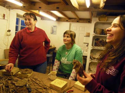 Potter's christmas party at Eastnor Pottery