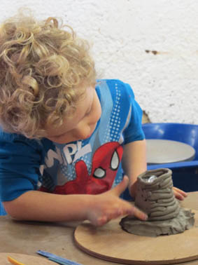 Lighthouse inspired pottery fun at Eastnor Pottery