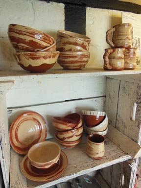 Bowls jugs and mugs made by Eastnor Pottery