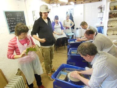 50th birthday party celebration at Eastnor Pottery in Herefordshire