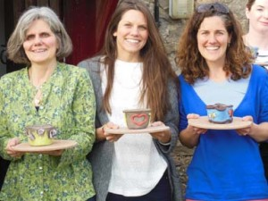 Hen party pottery in Herefordshire