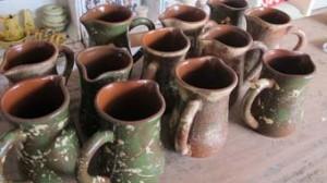Pottery jugs made for Verzon Hotel near ledbury