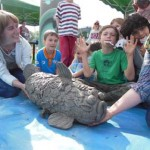 Pottery workshops at Hereford River Carnival 2014