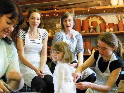 Pottery hen party for hens of all ages