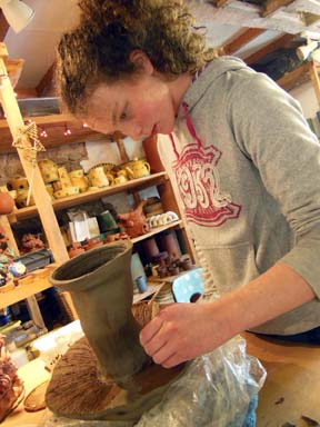 YR10 student from The Chase High School Malvern samples a working week at Eastnor Pottery