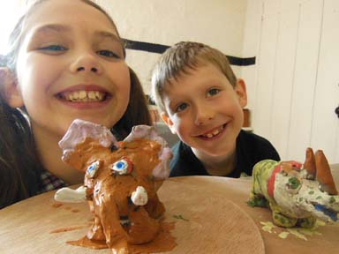 Pottery sessions for families children and adults in May 1/2 term holiday