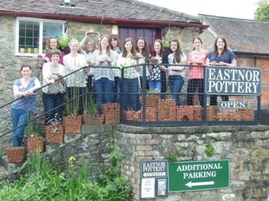 Creative hen party idea at Eastnor Pottery Herefordshire