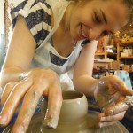learn to make pots on the potter's wheel in herefordshire