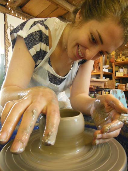 Hen party pottery celebration in West Midlands