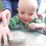 0-4 yrs try the potters wheel and get messy with clay at Just So Family Arts Festival 2014