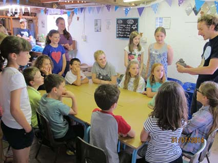 Children flock to Eastnor Pottery in Herefordshire to make and paint space themed pottery