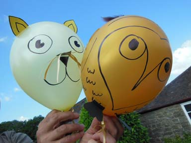 owl and pussycat themed birthday party at Eastnor Pottery