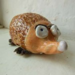 clay creation made by customer at Eastnor Pottery in Herefordshire