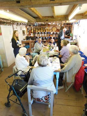 leadon bank residents from ledbury enjoy making pottery at eastnor pottery