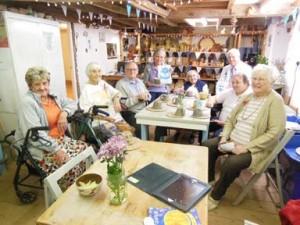 residents from leadon bank ledbury enjoy a spot of pottery at eastnor