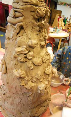 Clay residency at LPS Nursery with Jon the Potter