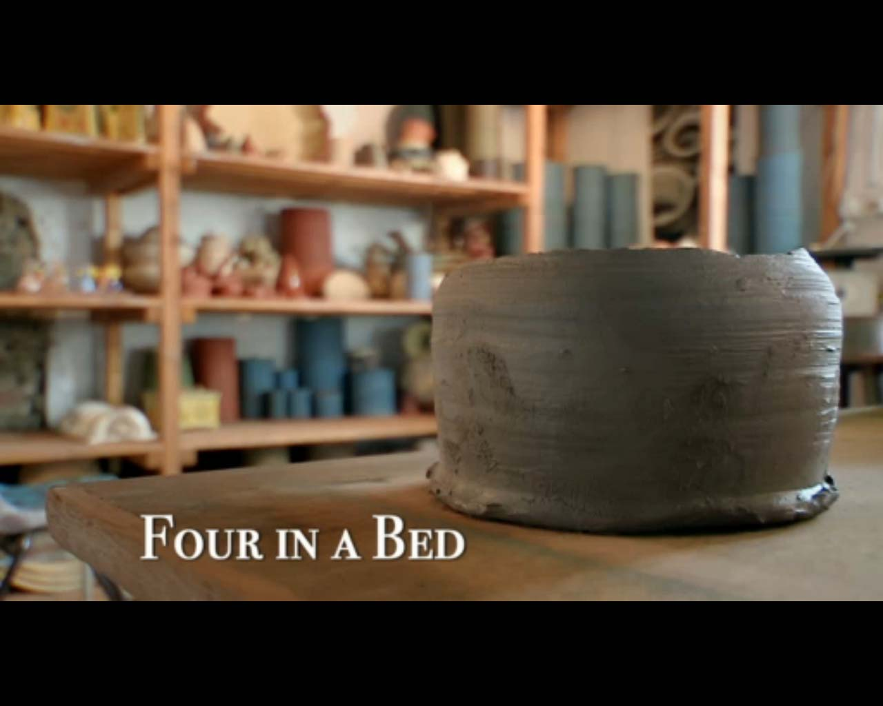 Eastnor Pottery on Channel Four TV Four in a bed