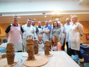 Pottery teambuilding activity in Malvern
