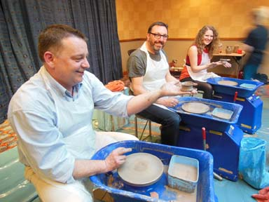 Pottery teambuilding activity in Malvern Worcs