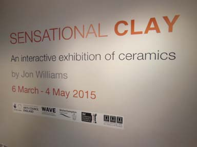 Interactive ceramics exhibition by Jon Williams