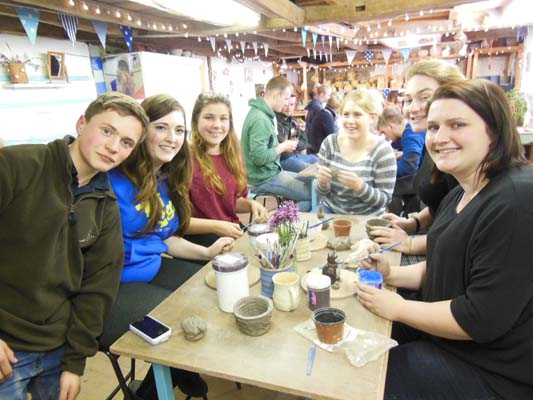 Tewkesbury and Newent Young Farmers get creative with clay