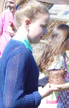 11th birthday party girl at Eastnor Pottery