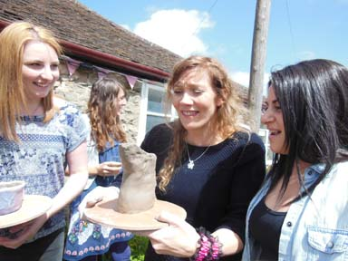 Hen party pottery fun in the Herefordshire sunshine