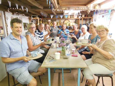 A pottery party to celebrate a 60th birthday at Eastnor Pottery