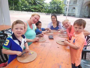 Families work with the Flying Potter at Eastnor Castle