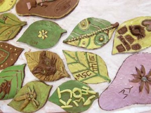 Pottery leaves all finished