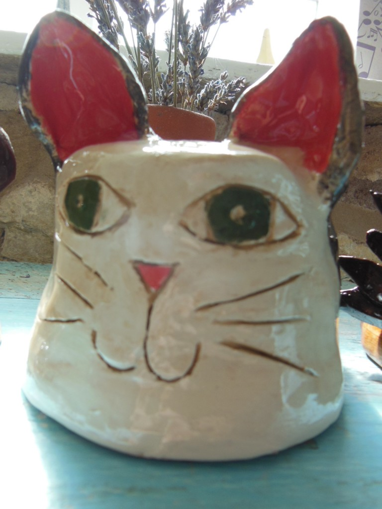Colour Cat Head Creation at Eastnor Pottery