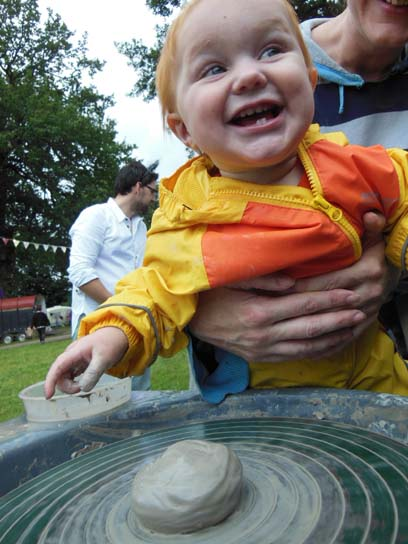 Happy Clay Baby at Just So Festival with Eastnor Pottery and The Flying Potter