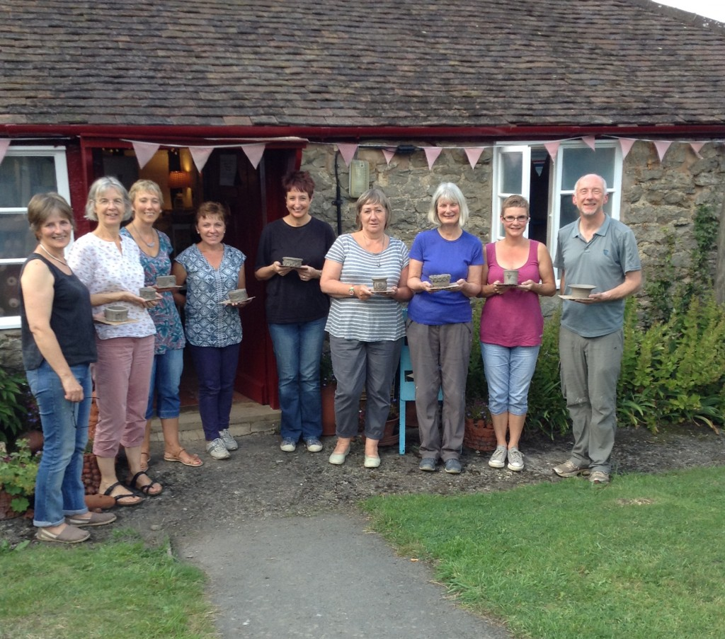 Great group session at Eastnor Pottery in the final weeks of summer