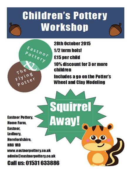 Squirrel Away Children's Holiday Pottery Workshop