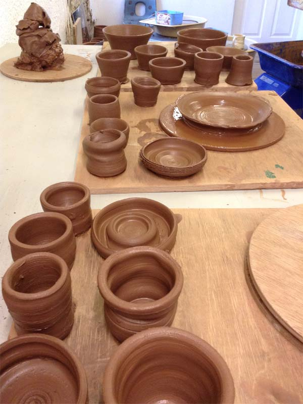 Potter's Wheel Workshop Finished Pots