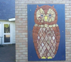 Martly Primary School and Eastnor Pottery made fantastic Owl tile panel