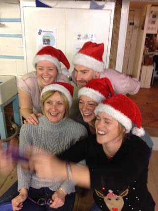 Bradford's Veterinary Physios at Eastnor Pottery for Christmas Party