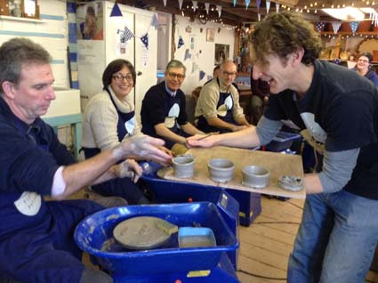 Project managers meet in malvern and then try their hand at pottery in Eastnor