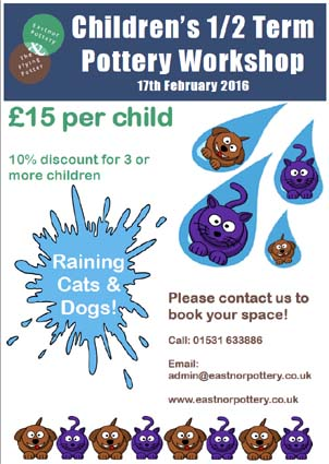 2016 February halfterm creative workshop at Eastnor Pottery