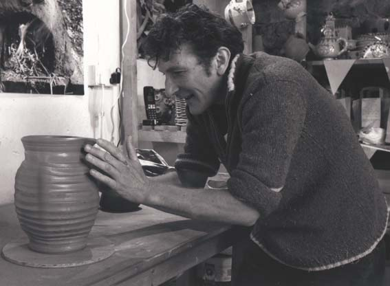 Jon Williams the Flying Potter from Eastnor Pottery in Images of Creative Herefordshire book