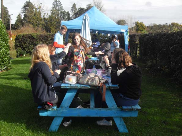 Lunchtime at Eastnor Pottery with Marches Trust