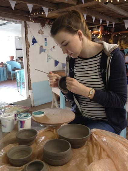 Returning to Eastnor Pottery for more Work Experience over Christmas