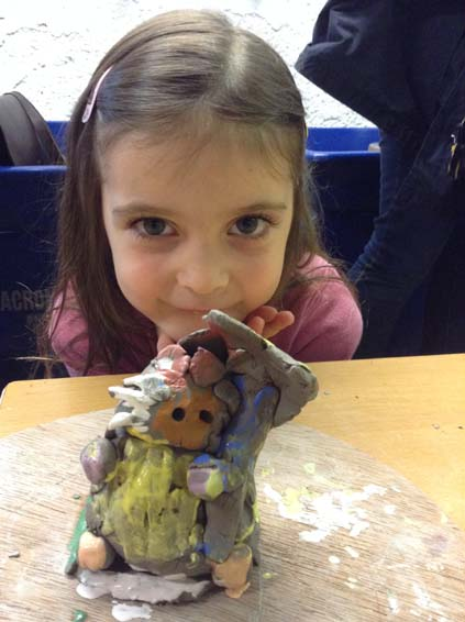 Raining Cats and Dogs Children's Halfterm Pottery Workshop at Eastnor Pottery huge success